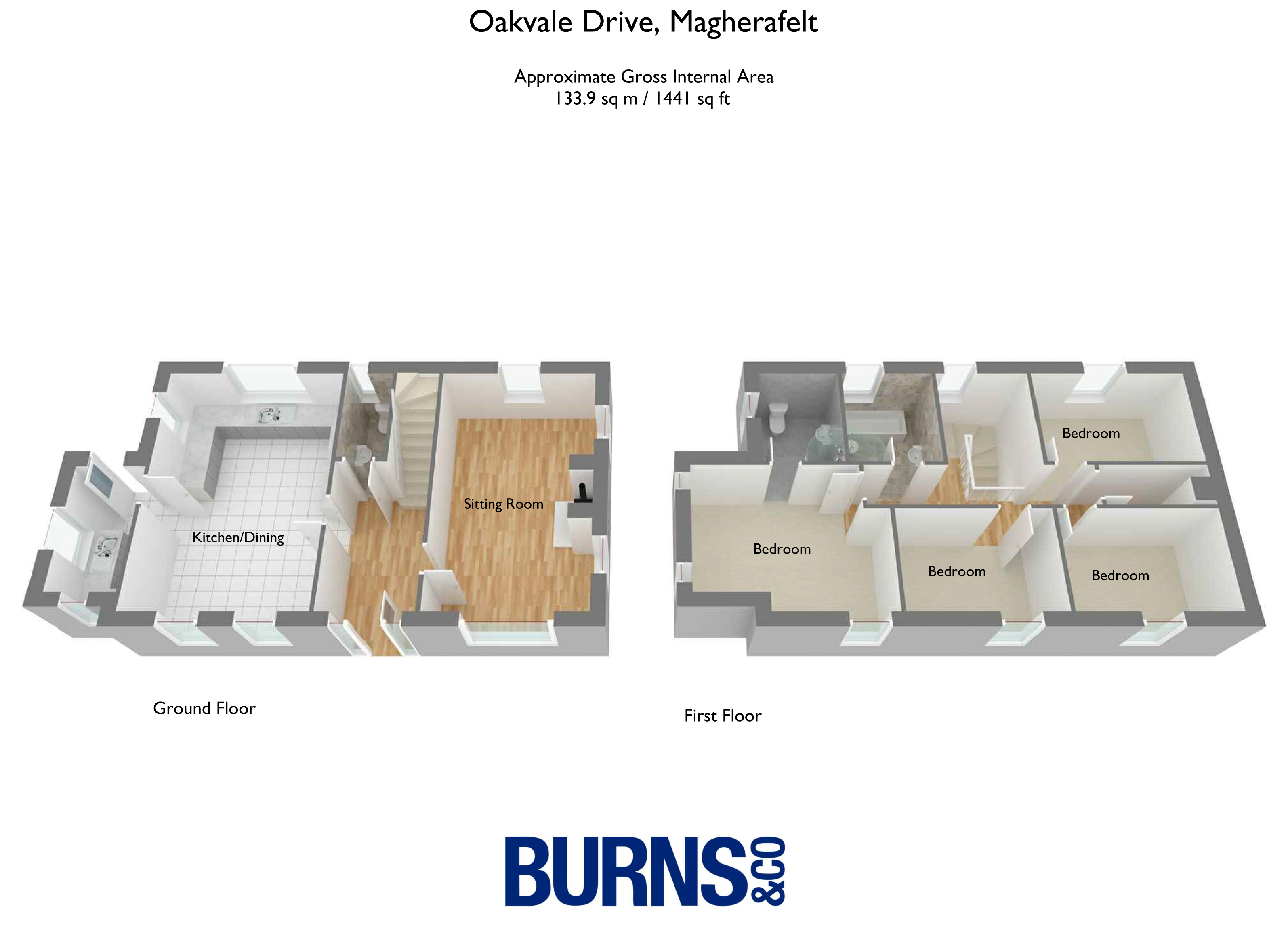 Oakvale Manor detached floorplan